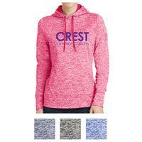 745408088-816 - Sport-Tek® Ladies' PosiCharge® Electric Heather Fleece Hooded Pullover - thumbnail