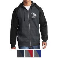 755415285-816 - Sport-Tek® Raglan Colorblock Full-Zip Hooded Fleece Jacket - thumbnail