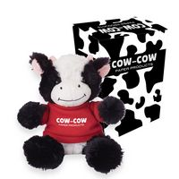 "765013517-816 - 6"" Cuddly Cow With Custom Box - thumbnail"