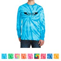 765339728-816 - Port & Company® Tie-Dye Long Sleeve Tee - thumbnail
