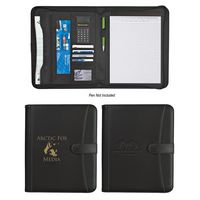 773132988-816 - Pebble Grain Zippered Portfolio With Calculator - thumbnail