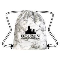 775641846-816 - Marbled Non-Woven Drawstring Bag - thumbnail