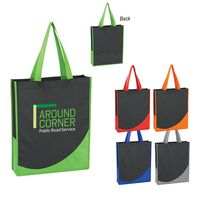 784284724-816 - Non-Woven Tote Bag With Accent Trim - thumbnail