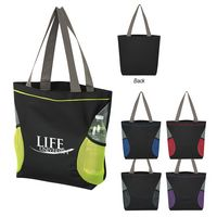 915527178-816 - Mesh Accent Tote Bag - thumbnail