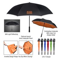"916094358-816 - 48"" Arc Reflective Edge Inversion Umbrella - thumbnail"