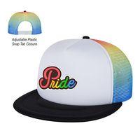 916114841-816 - Rainbow Mesh Trucker Cap - thumbnail