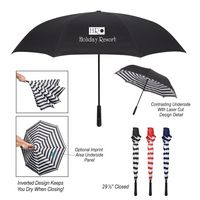 "945760431-816 - 48"" Arc Blanc Noir Inversion Umbrella - thumbnail"