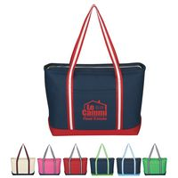 974002191-816 - Large Cotton Canvas Admiral Tote Bag - thumbnail
