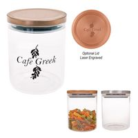 975813406-816 - 26 Oz. Glass Container With Stainless Steel Lid - thumbnail