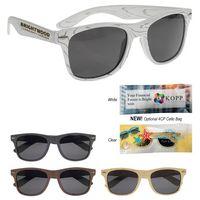985430548-816 - Designer Collection Woodtone Malibu Sunglasses - thumbnail