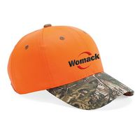365002126-169 - Outdoor Cap Blaze Crown Camo Visor Cap w/ Brown Eyelets - thumbnail