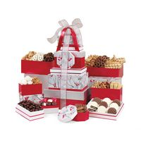 195774542-112 - Best of the Season Gourmet Sweets & Treats Tower Red-Silver - thumbnail