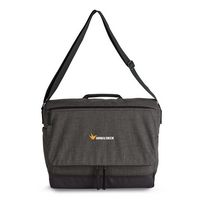 315082277-112 - Heritage Supply Tanner Computer Messenger Bag - Charcoal Heather-Black - thumbnail