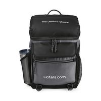 315622614-112 - Excursion Computer Backpack with Insulated Pocket - Black-Seattle Grey - thumbnail