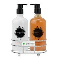 326451714-112 - Beekman 1802® Honeyed Grapefruit Soap & Lotion Gift Set - Chrome Plated Metal - Beekman - thumbnail