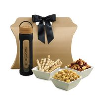 336216154-112 - Bali Retreat & Relax Treats Tote - Natural-Black - thumbnail
