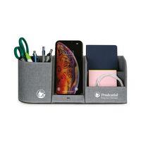 366451091-112 - Truman Wireless Charging Desk Organizer - Medium Grey Heather - thumbnail