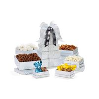 395774540-112 - Shimmering Sweets & Snacks Gourmet Tower - Silver Diamond Pattern - thumbnail
