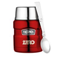 515032077-112 - Thermos® Stainless King™ Food Jar with Spoon - 16 Oz. Red - thumbnail