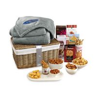 525774553-112 - Gourmet Delights Keepsake Basket with Brookstone® Throw Grey-Natural - thumbnail