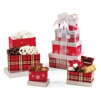 716283044-112 - Festive Holiday Sweets Tower - Silver and Red Plaid - thumbnail
