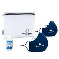 776276535-112 - Reusable Face Mask and Hand Sanitizer Kit - Navy - thumbnail