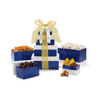 905774618-112 - Classic Gourmet Treats Tower - Navy White and Gold - thumbnail