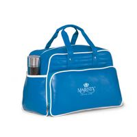 993685446-112 - Vintage Weekender Bag - Pacific Blue-White - thumbnail