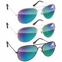 505684527-138 - BIC Graphic® Metal Aviator Sunglasses - Mirror - thumbnail
