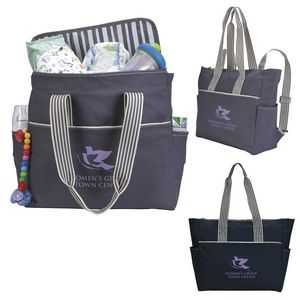 516519558-138 - Koozie® Stripe Diaper Tote-Pack - thumbnail