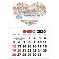 565143709-138 - Triumph® Full Color Spanish Stick Up Grid Calendar - thumbnail