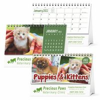 575547794-138 - Triumph® Puppies & Kittens Desk Calendar - thumbnail