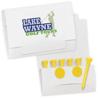 "585471439-138 - BIC Graphic® Golf Tee Packet Value Pak w/2 1/8"" Tees & 2 Ball Markers - thumbnail"