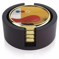 735472774-138 - Jaffa® Four Round Radiant Coasters w/Wood Tray - thumbnail