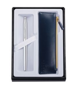 315514407-126 - Century Chrome Rollerball Pen w/ Midnight Blue ZIP Pouch - thumbnail
