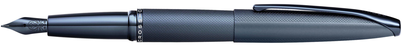 786442820-126 - ATX Sandblasted Dark Blue Medium Nib Fountain Pen with Stainless Steel Nib Plated with Dark Blue PVD - thumbnail