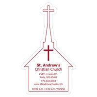 "103144879-183 - Church 0.03"" Thick Vinyl Die Cut Large Stock Magnet - thumbnail"