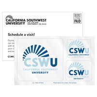 145446906-183 - 3 Rounded Corner Rectangles Clear Static Vinyl Post-Cals Decal Postcard - thumbnail