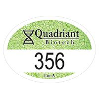"""145932497-183 - Oval White Vinyl Full Color Numbered Outside Parking Permit Decal (2""""x2 3/4"""") - thumbnail"""