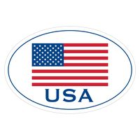 "156313116-183 - White Vinyl U.S. Flag Removable Adhesive Decal (4""x6"") - thumbnail"
