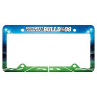 165529304-183 - Auto License Frame Full Color w/ 4 Holes & Large Top Straight Panel - thumbnail