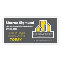 "16563711-183 - Rectangle Magnetic Car Sign (12""x24"") - thumbnail"