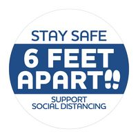 """316254130-183 - Stay Safe Stickers (3"""" dia.) - thumbnail"""