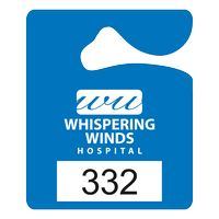 """325932450-183 - Plastic 10 pt. Numbered Hanging Parking Permit (2 1/2""""x3"""") - thumbnail"""