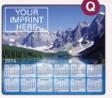 343729849-183 - Soft Surface Calendar Mouse Pads - Stock Art Background - Mountain Lake - thumbnail