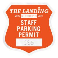 """355932460-183 - Shield Clear Polyester Numbered Inside Parking Permit Decal (2 3/4""""x2 3/4"""") - thumbnail"""