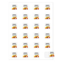 """364676422-183 - Square Quick & Colorful Sheeted Label (1""""x1"""") - thumbnail"""