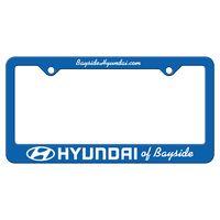365932435-183 - Blue Auto License Frame w/ 2 Holes & Large Bottom Straight Panel - thumbnail