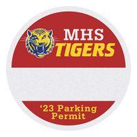 "385489559-183 - Round White Reflective Outside Parking Permit Decal (2 1/2"" Diameter) - thumbnail"