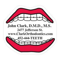 "38559885-183 - Mouth 0.03"" Thick Vinyl Die Cut Small Stock Magnet - thumbnail"